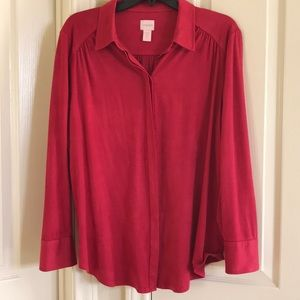 Chico's suede looking blouse